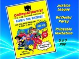 Justice League Birthday Invitations Printable Justice League Birthday Invitation File Printable Do
