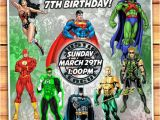 Justice League Birthday Invitations Printable Justice League Birthday Invitation Justice by