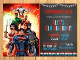 Justice League Birthday Invitations Printable Superhero Invitation Chalkboard Superhero Justice League