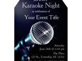 Karaoke Party Invitation Template Adult 39 S Karaoke Party Custom Invitation Zazzle Com