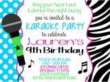 Karaoke Party Invitation Template Karaoke Party Invitation Templates