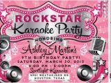 Karaoke Party Invitation Template Vip Rock Star Karaoke Birthday Invitation Di 8018