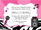 Karaoke Party Invitation Templates 17 Best Images About Karaoke Birthday Party On Pinterest