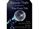 Karaoke Party Invitation Templates Adult S Karaoke Party Custom Invitation