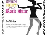 Karaoke Party Invitation Templates Karaoke Girl Rock Star Party Invitations & Cards On Pingg