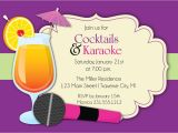 Karaoke Party Invitation Templates Karaoke Invitation Cocktails & Karaoke Party Invite for