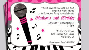 Karaoke Party Invitation Templates Karaoke Party Invitation Wording