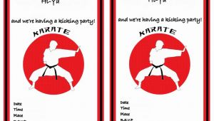Karate Party Invitation Template Karate Birthday Invitations Birthday Printable
