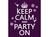 Keep Calm and Party On Invitations Keep Calm and Party On All Colours 14 Cm X 19 Cm
