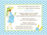 Kentucky Derby Baby Shower Invitations Blue Kentucky Derby Mommy to Be Baby Shower Invitations
