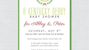 Kentucky Derby Baby Shower Invitations Kentucky Derby Baby Shower Invitation Digital File