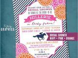 Kentucky Derby Bridal Shower Invitations Kentucky Derby Birthday or Bridal Shower Party Invitation