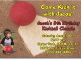 Kickball Birthday Party Invitations Kickball Birthday Invitations Candy Wrappers Thank You