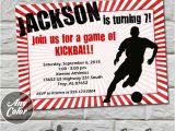 Kickball Birthday Party Invitations Kickball Birthday Party Invitation Printable Template