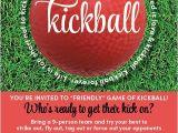 Kickball Birthday Party Invitations Kickball Game Invitation Birthdays and Gaming