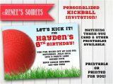 Kickball Birthday Party Invitations Kickball Invitation Printable Birthday Invite Personalized