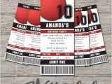 Kickball Birthday Party Invitations Kickball Ticket Birthday Invitation Printable Diy by
