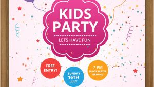 Kid Party Invitation Template 17 Free Birthday Invitation Templates Psd Designyep