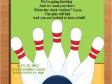 Kids Bowling Birthday Party Invitations Birthday Invites Bowling Birthday Party Invitations Free