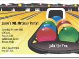 Kids Bowling Birthday Party Invitations Bowling Invitation Bowling Birthday Invitation