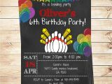 Kids Bowling Birthday Party Invitations Printable Bowling Birthday Party Invitation Boy Bowling