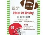 Kids Football Party Invitations American Football Kids Birthday Party Invitations Zazzle