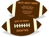 Kids Football Party Invitations Football Draft Pick Kids Birthday Invitations Pear Tree