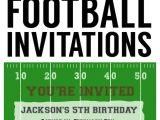 Kids Football Party Invitations Football Party Invitation Template Free Printable