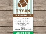 Kids Football Party Invitations Football Ticket Invitation Template Ticket Invitations