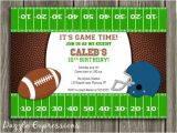 Kids Football Party Invitations Free Printable Football Birthday Invitations Dolanpedia