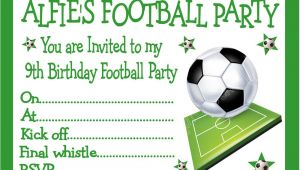 Kids Football Party Invitations Personalised Invites Childrens Boys Football Birthday