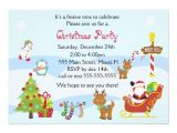 Kids Holiday Party Invitation Christmas Invitation Kids Party Snowman Santa Zazzle Co Uk