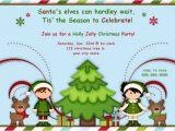 Kids Holiday Party Invitation Elf Christmas Party Invitations or Birthday Invitations