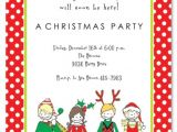 Kids Holiday Party Invitation Kids Christmas Party Invitations Cimvitation