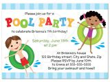 Kids Swimming Party Invitations Free 10th Birthday Party Invitations Boy Printable S Pool