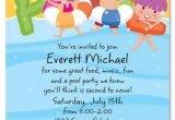 Kids Swimming Party Invitations Free Printable Kids Pool Party Invitations Templates 4