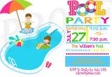 Kids Swimming Party Invitations Kids Pool Party Invitation Pool Party Pinterest