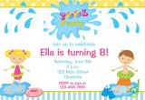 Kids Swimming Party Invitations Kids Pool Party Invitations