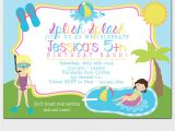 Kids Swimming Party Invitations Pool Party Invitation Kids Pool Party Invitation Pool
