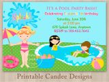 Kids Swimming Party Invitations Pool Party Invitations for Kids Free Printable