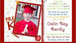 Kindergarten Graduation Invitation Ideas Photo Kindergarten Graduation Invitation Pre K Elementary