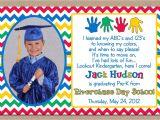 Kindergarten Graduation Invitation Ideas Preschool Graduation Invitation Ideas Doyadoyasamos Com