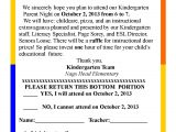 Kindergarten Graduation Invitation Letter to Parents Parent Night Invitation Letter Letters Free Sample Letters