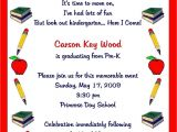 Kindergarten Graduation Invitation Letter to Parents Preschool Graduation Invitation to Parents