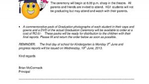 Kindergarten Graduation Invitation Letter to Parents Sample Preschool Graduation Letter Just B Cause