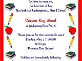 Kindergarten Graduation Invitation Wording Pre K Graduation Quotes Quotesgram
