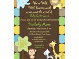 King Of the Jungle Baby Shower Invitations King Of the Jungle Baby Shower Invitation
