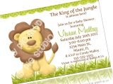 King Of the Jungle Baby Shower Invitations King Of the Jungle Baby Shower Invitation Printable Digital
