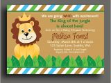 King Of the Jungle Baby Shower Invitations King Of the Jungle Lion Invitation Printable or Printed