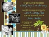 King Of the Jungle Baby Shower Invitations King Of the Jungle Lion Ultrasound Baby Shower Invitation
